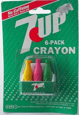 7-UP Crayons Advertising Collectible Miniature 6-Pack