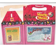 Burger King Vintage 1981 Holiday Magic Meal Box w/ Raindeer Card Tricks