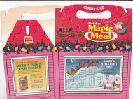 Burger King Vintage 1981 Holiday Magic Meal Box w/ Raindeer Card Tricks