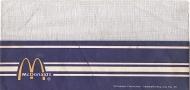 McDonald's Crew Hat 1970's Paper & Mesh Dark Blue Vintage