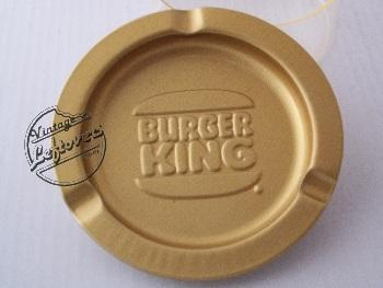 BURGER KING CORP ASHTRAY Metal Gold tone Smooth Round Unused Mint Vintage