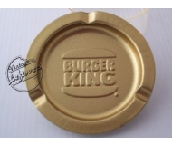 BURGER KING CORP ASHTRAY Metal Gold tone Textured Round, Unused, Mint Vintage