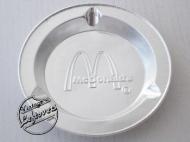 MCDONALDS CORP ASHTRAY Foil Silver tone Round, Unused, Mint Vintage