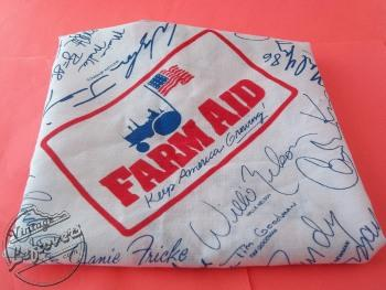 1985 FARM AID Concert Bandana Handkerchief WILLIE NELSON NEIL YOUNG
