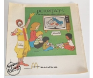 1978 MCDONALD'S with CAPTAIN KANGAROO & CBS Vintage Set of 8 PicturePages Booklets