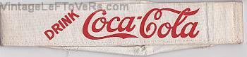 VINTAGE 1920s HAT DRINK COCA-COLA SODA JERK DINER SODA FOUNTAIN CLOTH ANTIQUE