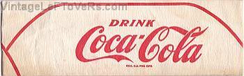 VINTAGE 1940s HAT DRINK COCA-COLA SODA JERK PAPER CAP Paperlynen OHIO