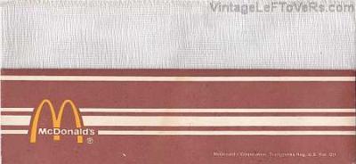 VINTAGE 1970s MCDONALDS RESTAURANT CELLUCAP BROWN PAPER HAT
