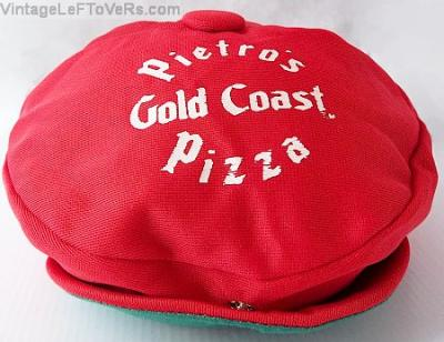 VINTAGE HAT PIETROS GOLD COAST PIZZA PARLOR RESTAURANT CREW CAP RED