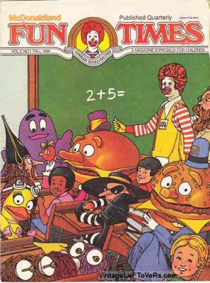McDonaldland Fun Times Vol 2 No 1 Fall 1980 Magazine for Children Vintage