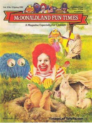 McDonaldland Fun Times Vol 3 No 3 Spring 1982 Magazine for Children Vintage
