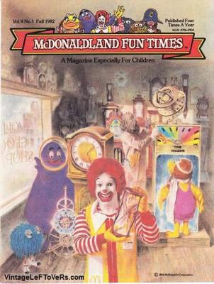 McDonaldland Fun Times Vol 4 No 1 Fall 1982 Magazine for Children Vintage