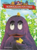 McDonaldland Fun Times Vol 6 No 2 April-May 1984 Magazine for Children Vintage