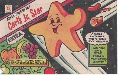 CARL'S JR. STAR Food Group Game promotional comic book