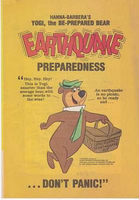 YOGI BEAR Earthquake Preparedness for Children comic book giveaway, 1983, Hanna-Barbera