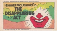 MCDONALD'S 1978 RONALD MCDONALD in The Disappearing Act Vintage Comic