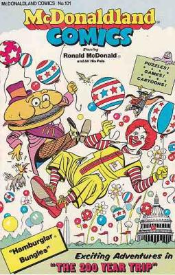 McDONALDLAND COMICS No. 101, 1976, RONALD McDONALD and ALL HIS PALS