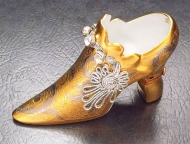 LIMOGES FIONA SAUNDERS SHOE GOLD W/ OPEN HEEL