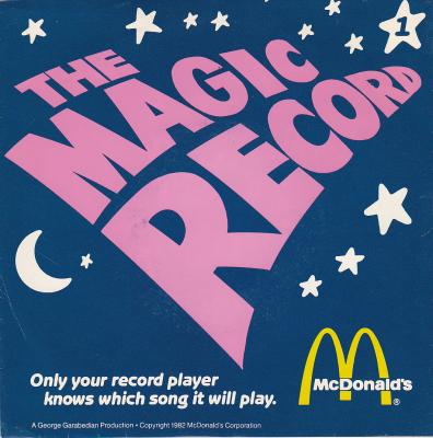 THE MAGIC RECORD 45 RPM MCDONALD'S ADVERTISING PROMOTION