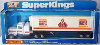 1978 Matchbox SuperKings Burger King Truck, Boxed