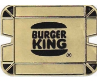 Vintage Ashtray BURGER KING Rare Gold Foil Cardboard, Unfolded & Unused