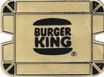 Vintage Ashtray BURGER KING Rare Gold Foil Cardboard, Unfolded & Unused