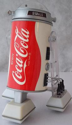 "Coca-Cola ""Cobot"" Star Wars/R2-D2 Vintage Promotional Toy Robot, Mint in Box, Not Working"