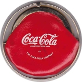 Vintage Coca Cola Purse in Goldtone & Red Soft Vinyl