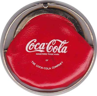 Vintage Coca Cola Purse in Goldtone & Red Soft Vinyl