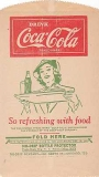 COCA-COLA NO-DRIP BOTTLE PROTECTOR BAGS 1940'S Two (2) Different Vintage Ephemera