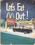 """LET'S EAT OUT"" 1965 MCDONALD'S Vintage BOOK Rare Restaurant Advertising Promotion"