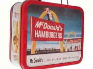 McDonald's Lunch Box Metal 1998 Speedee Vintage