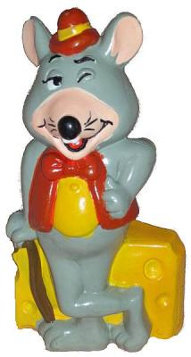 PIZZA TIME THEATRE CHUCK E CHEESE COIN BANK Ceramic 1980