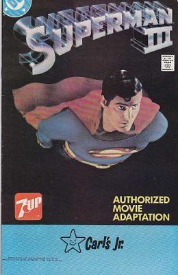 Vintage 1983 SUPERMAN III DC COMICS 7-UP CARL'S JR CHRISTOPHER REEVE Promotional Giveaway