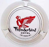 VINTAGE ASHTRAY SIXTIES LAS VEGAS, NEVADA THUNDERBIRD HOTEL CASINO ADVERTISING