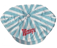 WENDY'S Hat Blue Striped Crew Vintage Uniform
