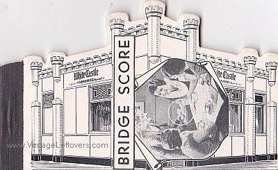 WHITE CASTLE 1946 BRIDGE SCORE PADS VINTAGE Mint