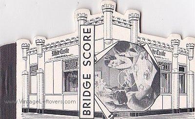 WHITE CASTLE 1946 BRIDGE SCORE PADS VINTAGE VG