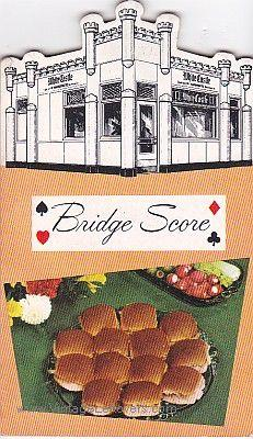 WHITE CASTLE BRIDGE SCORE PADS VINTAGE Die Cut VG