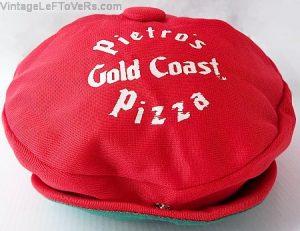 PIETRO'S GOLD COAST PIZZA PARLOR Crew Cap Hat Vintage Mid-Century