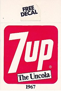 Vintage Leftovers7 Up Advertising Decals Bottle Toppers